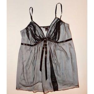 Victorias Secret Cami Sheer Nightie XL Black